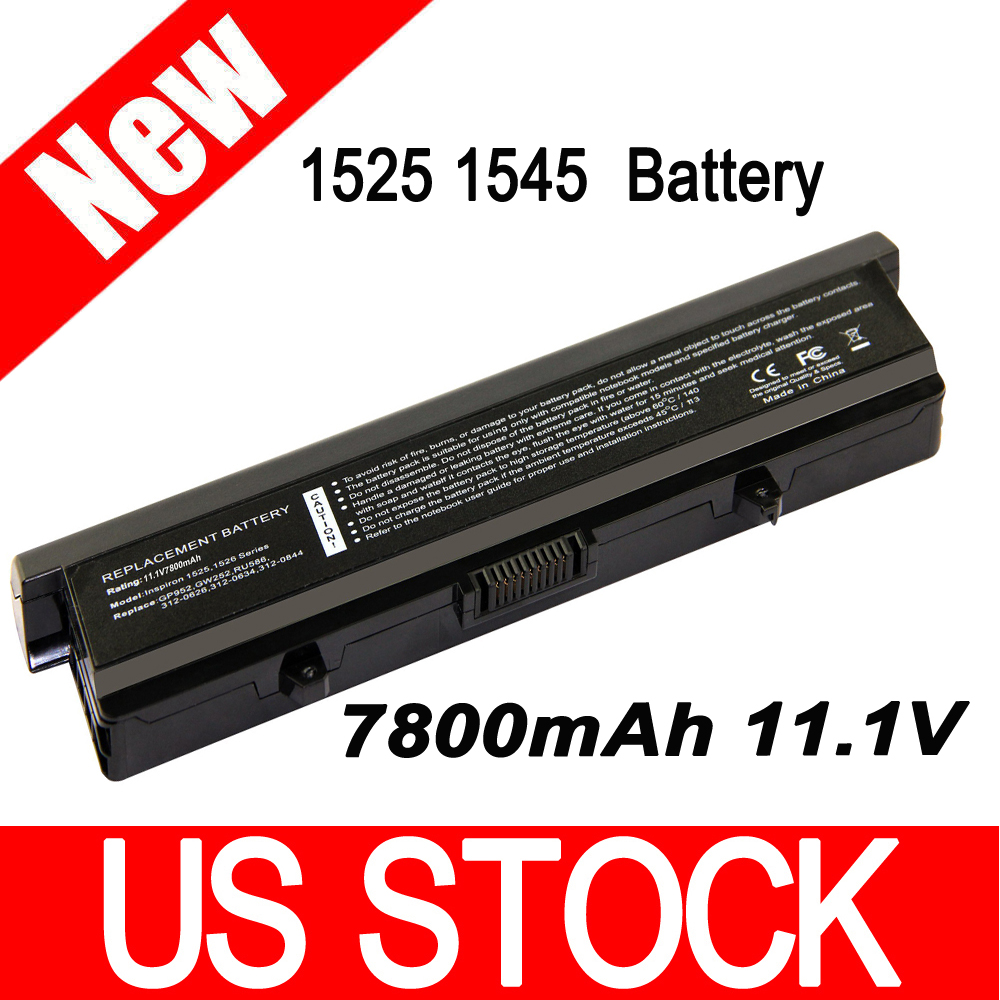 Replacement Laptop Battery For Dell Inspiron 1525 1526 C601H D608H GP952 GW240 GW252 HP297 RN873 RU586 XR693(China (Mainland))