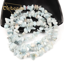 """Buy Natural Stone Sky Blue Stone Irregular Chips Beads Gravel Stone Jewelry Making Strand 33.5"""" 86cm Diy beads 6~9mm for $5.20 in AliExpress store"""