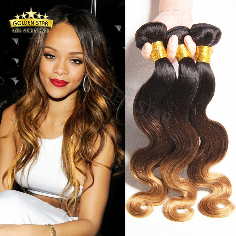 2016 NEW Silky Body Wave Mongolian Hair Weave Ombre 1B/4/27 30 3 Tone Cheap Body Wave Human Hair Bundle Qt Human Hair Products<br><br>Aliexpress