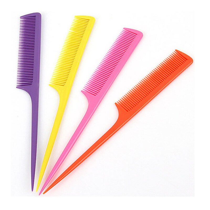 1 Piece Professional Cutting Comb Hard Plastic Combs Sharp Point End Assorted Color(China (Mainland))