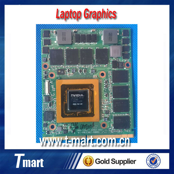 100% Original nVIDIA Geforce GTX280M GTX 280M Video Card 1GB DDR3 G92-761-B1 for DELL M15x M17x R1 M6500 free shipping(China (Mainland))
