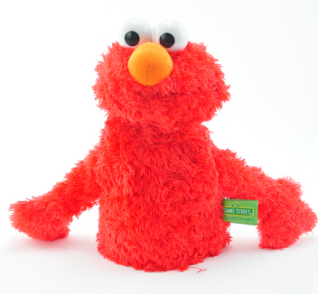 sesame street birthday gift red hand puppets doll 25cm(9.84'') lovely soft plush toys figures(China (Mainland))