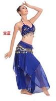 Индийский танец танец живота костюм 2015 Болливуд одежду танец живота с цепь шкафута