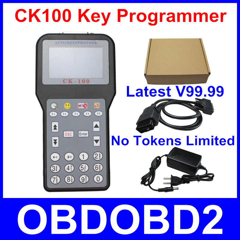 DHL Free V99.99 CK100 Key Programmer CK 100 Car Key Maker CK-100 Auto Transponder Add Pin Code Service More Vehicles Than SBB(China (Mainland))