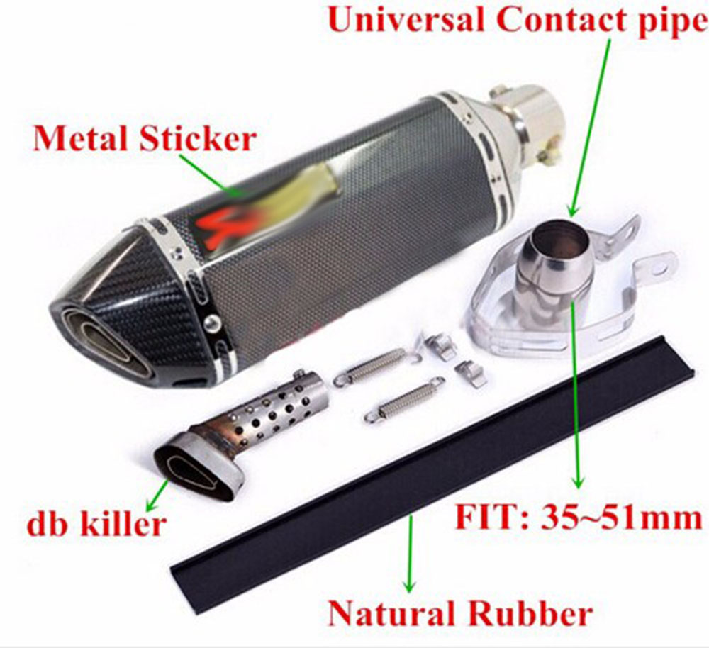 Universal GY6 Scooter Motorcycle Modified Muffler exhaust pipe fit on CBR125 250 CB400 CB600 YZF FZ400 Z750 RACING(China (Mainland))
