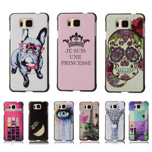 Ultra Thin Cartoon Painting Phone Case For Samsung Galaxy Alpha G850 G850F G8508S Cartoon Pattern Hard Plastic Back Cover