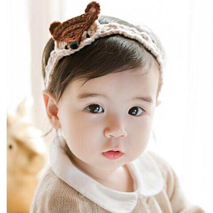 Little Fox Knitting Handmade Children's Hair Band Cotton Hair Band Baby Elastic Korean Version Wild Hair Accessories(China (Mainland))