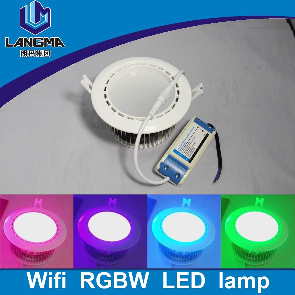 AC85-265V Mi.light 2.4G 12W RGB+White(RGBW) or RGB+Warm White(RGBWW) WiFi Compatible Smart LED Downlight Aluminum with Driver<br><br>Aliexpress