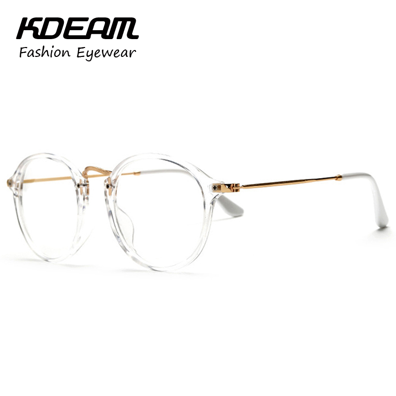 Stylish Vintage Transparent Glasses Frame Eyewear For ...