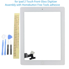 Replacement Touch Screen Tablet Panel for ipad 2 Touch Front Glass Digitizer Assembly with Homebutton & 3M Adhesive WHITE XIP2(China (Mainland))