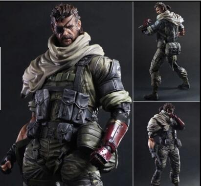 26CM Play Arts Metal Gear Solid V The Phantom Pain Iroquois Pliskin Old Snake PVC Action Figure Model Toy free shipping(China (Mainland))