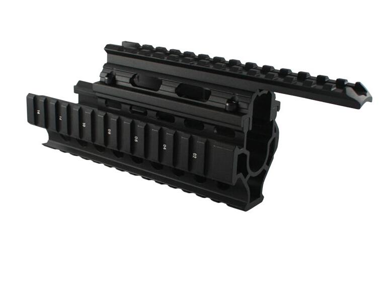 Hunting AK 47/74 Tactical Quad Rails Handguard Rail Shooting Tactical ris Quad Rail rail mount with free 12pcs cover<br><br>Aliexpress