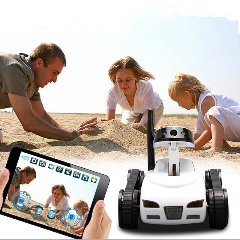 RC Mini Tank Car I Spy with Video 0.3MP Camera 777-270 WiFi Remote Control By Iphone Android Robot with Camera 4CH APP