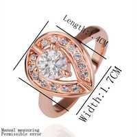 18 k позолоченные gp кольцо Ювелирные кольца никель горный хрусталь свободного сплава олова кристалл розы Золотое кольцо smtpr177