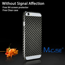 Mcase Twill Weave Hollow Carbon Fiber Case for iPhone 6S Plus UV Glossy Polishing Or Matte Rubber Coating Phone Case For iPhone6