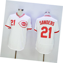 Mens Flexbase/Coolbase #21 Deion Sanders Color Red White Gray High Quality Stitched Throwback Baseball Jerseys SIZE M-3XL(China (Mainland))