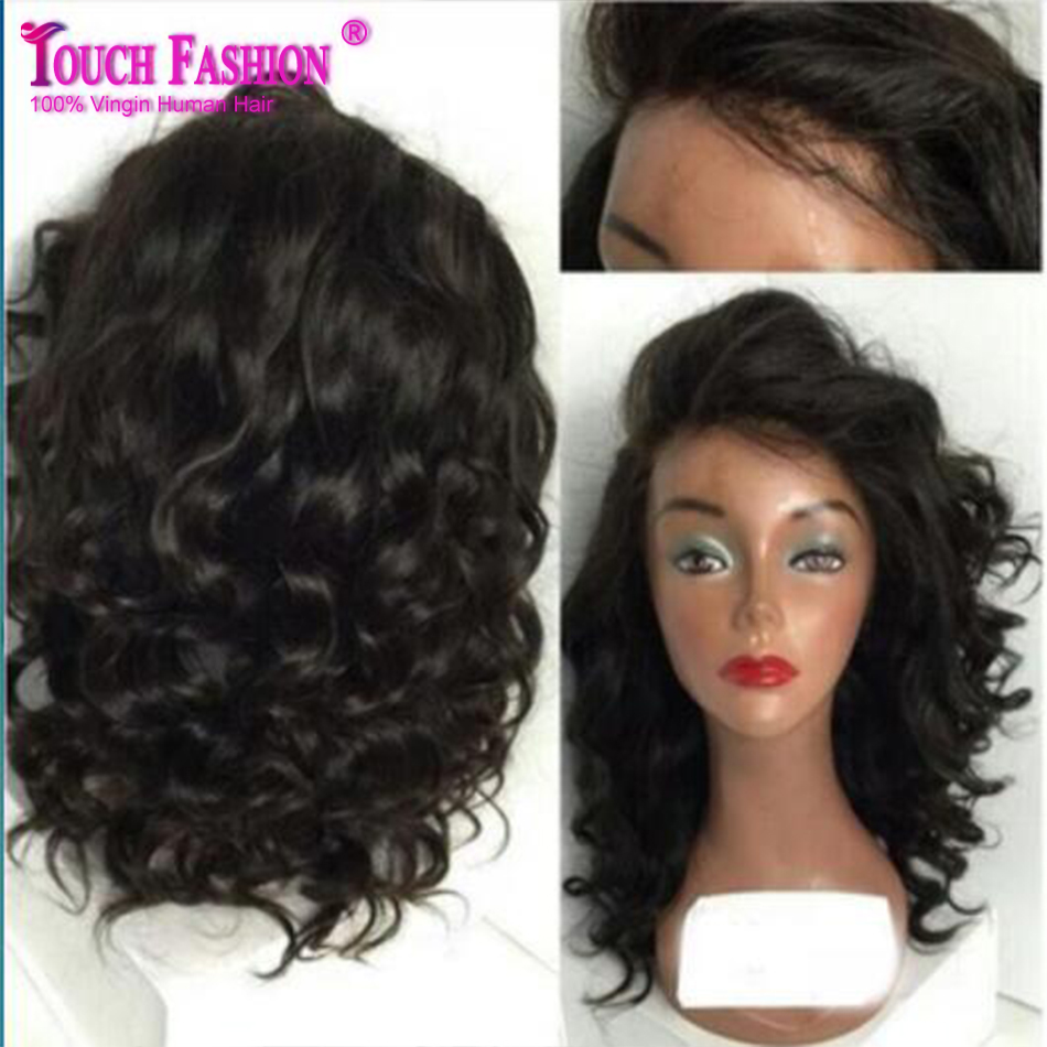 Hot Free Part 100% Human Hair Glueless Short Full Lace Wigs for Black Women Brazilian Short Lace Front Wigs Cheap with Baby Hair<br><br>Aliexpress