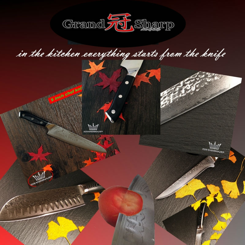 Buy GRANDSHARP 8 Inch Chef Knife 67 Layers Japanese Damascus Stainless Steel VG-10 Core Kitchen Knives Cooking Tools FREE SHIPPING cheap