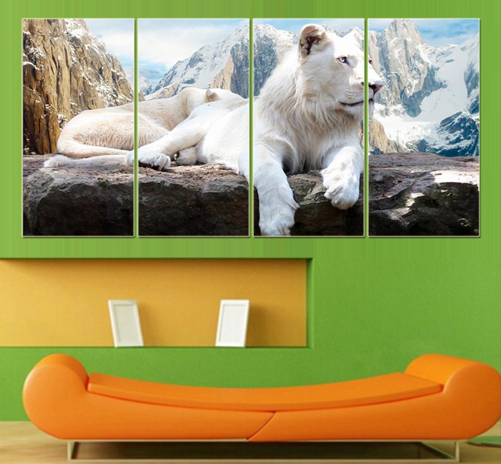 Hoge kwaliteit lion schilderijen koop goedkope lion schilderijen ...
