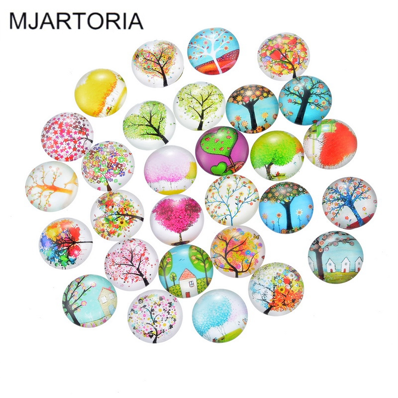 MJARTORIA 10PCs Glass Cabochon 20mm Flatback Dome Cabochon Embellishments Findings Fit DIY Accessories Jewelry Making Supplies(China (Mainland))