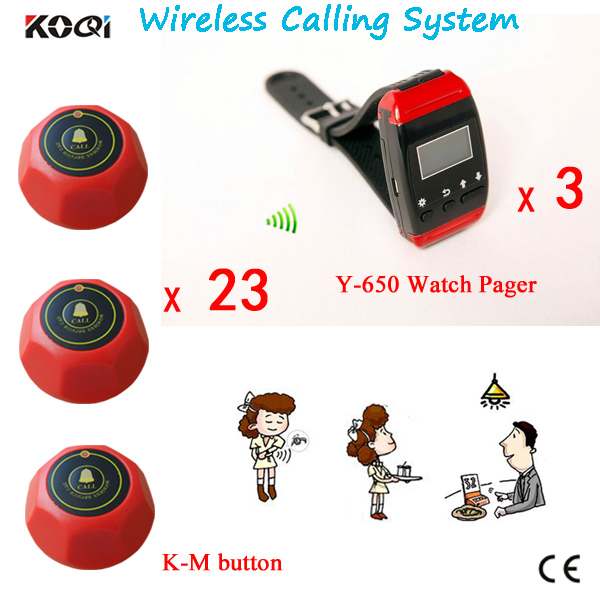 Free shipping! Nurse call system, patient call bell,3pc nurse watch,23pc call button, wireless calling system server(China (Mainland))