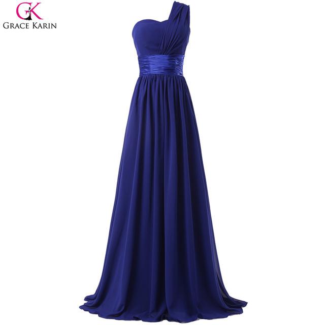 Одно плечо вечернее платье Большой размер грейс карин халат де вечер Длинныйué ...
