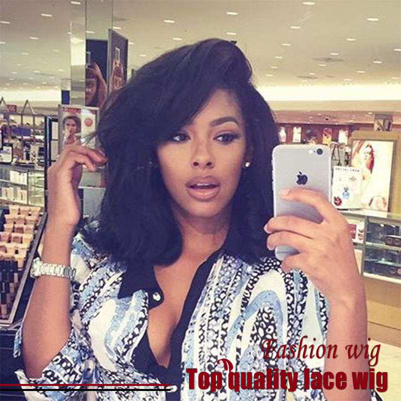 Wholesale Brazilian Short Natural Wave Bob Wig Black Synthetic Lace Front Wigs With Baby Haiy Heat Resistant Synthetic Hair Wigs<br><br>Aliexpress