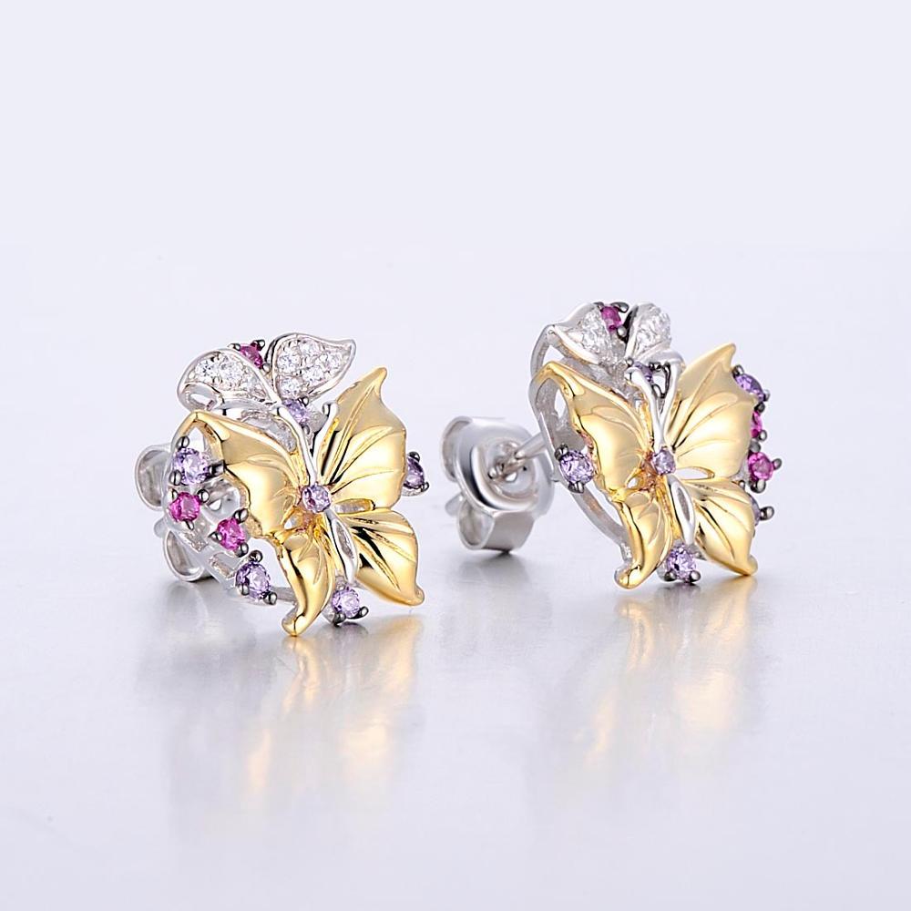 silver color stone butterfly earrings-E305203SACUZSZ925-SV2