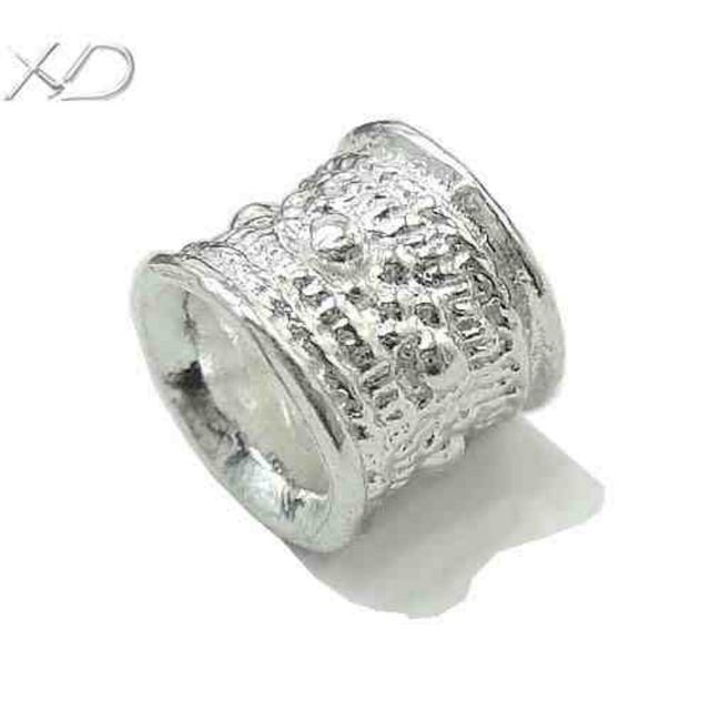 XD 925 sterling silver tube crimp beads 4mm large hole spacer beads for jewelry diy  X038