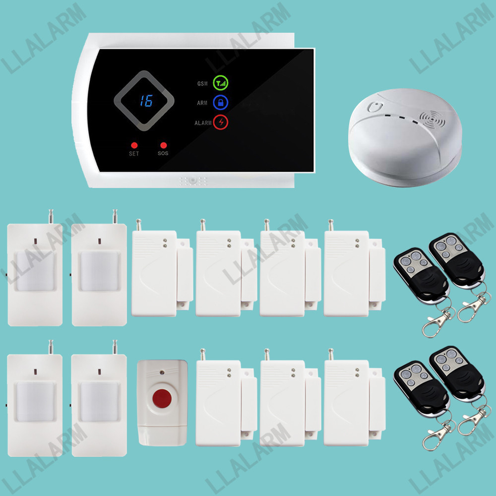 IOS & Android APP Support 99 Wireless & 2 Wired Zone Home Security GSM Alarm System(China (Mainland))