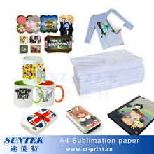 100pcs/Lot A4 size sublimation paper for mugs, light color t-shirt papel transfer para sublimacao free shipping(China (Mainland))