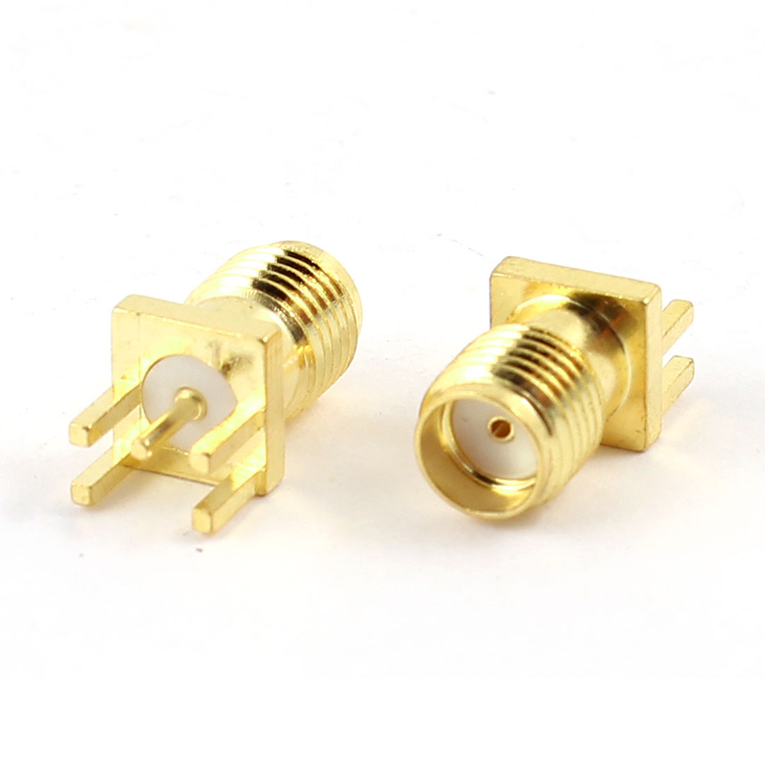 UXCELL Pack Size(L*W*H) 2 Pcs Rf Coaxial Pcb Board Soldering Antenna Base Connector 5 Pin Sma Female Jack Adapter(China (Mainland))