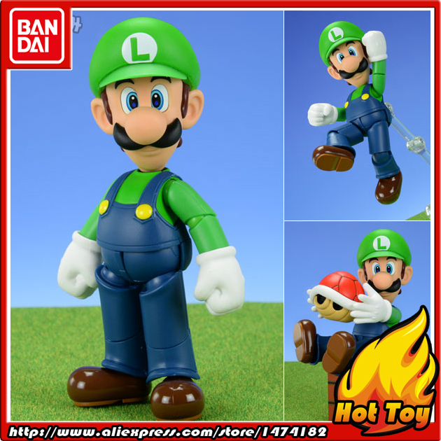 "100% Original BANDAI Tamashii Nations S.H.Figuarts (SHF) Action Figure - Luigi from ""Super Mario""(China (Mainland))"