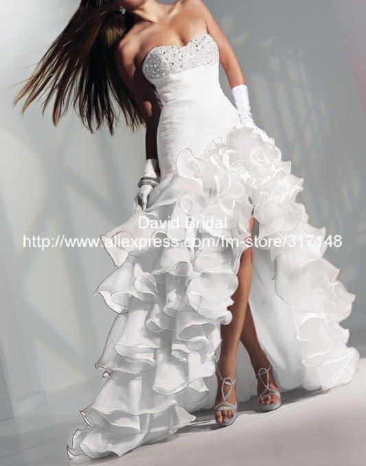 White peacock dress - photo#8
