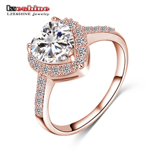Buy LZESHINE 2016 Christmas Loving Heart Rings Rose Gold/Silver Color Micro Inlay Zircon Fashion Rings Lady Anelli CRI0004 for $1.99 in AliExpress store