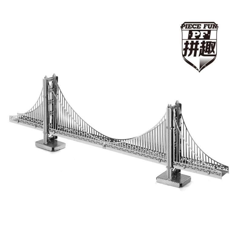 The world famous buildings,3D,DIY,Metal,realistic,Scale Miniature Model Kids,The golden gate bridge,Intelligent Educational Toys(China (Mainland))