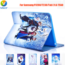 Frozen-Paint PU Cover Case for Samsung P3200 / GALAXY Tab 4 T230 / Galaxy Tab E 9.6 T560 Anti-Dust Cover Coque Tablet Case