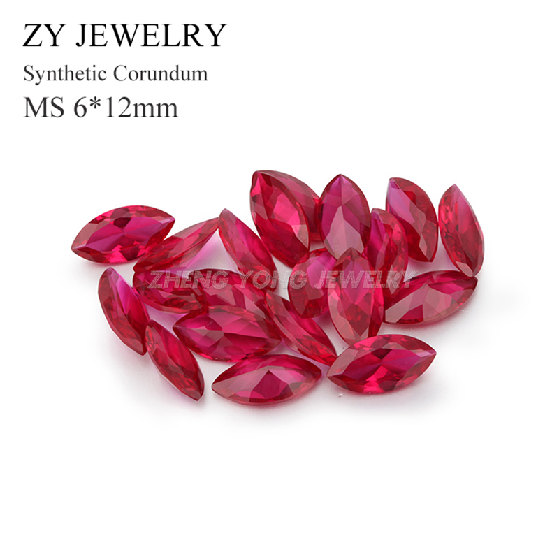 Marquise Cut 6x12mm Synthetic Ruby 5# Loose Corundum Stone Lot Wholesale<br><br>Aliexpress