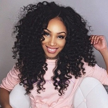 Buy Black Kinky curly wig 12-26 inch long synthetic hair 1B colour afro kinky curl hair lace front wig black woman factory price for $45.00 in AliExpress store