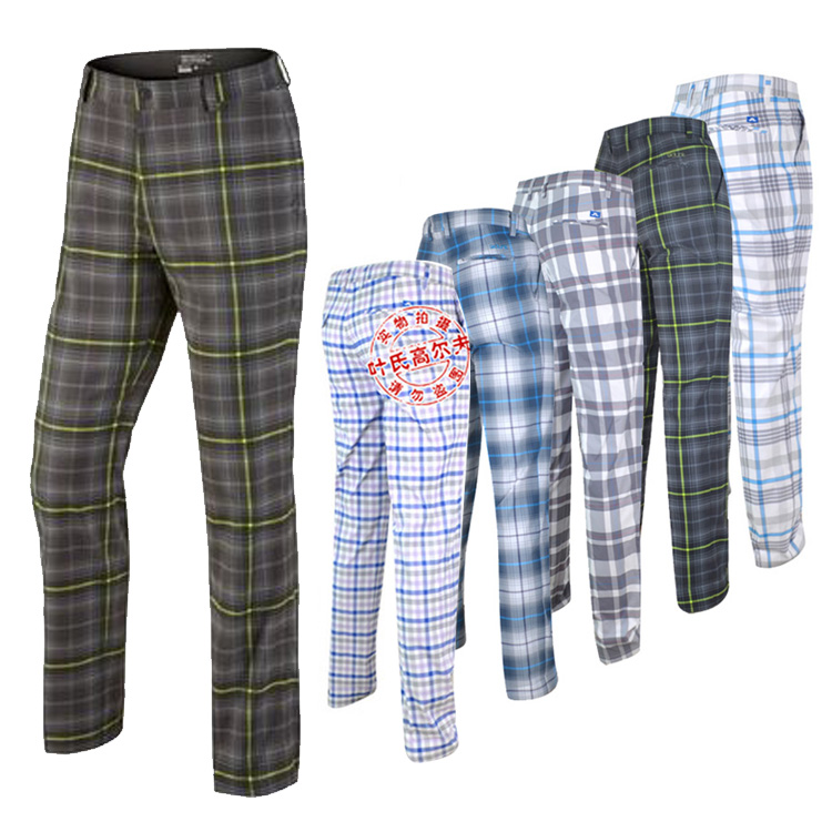 hot sale new arrival men's golf pants branded plaid pants f golf ball pants men pants fashion trousers top quality(China (Mainland))