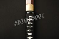 Японская катана Дамаск сложить стали практические самурайский меч красный лезвие 728