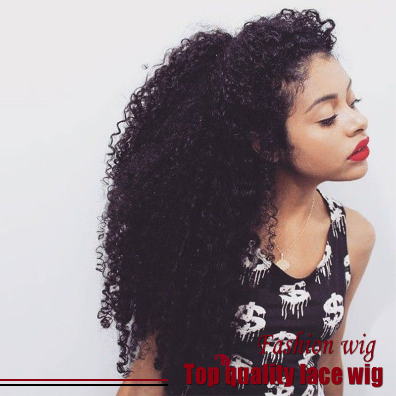 Malaysian Hair Fiber Kinky Curly Wig 180% Density Synthetic Lace Front Wigs Black Heat Resistant Synthetic Hair Wigs Top Selling<br><br>Aliexpress