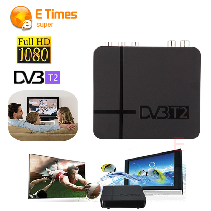 RUSSIA/EUROPE/THAILAND DVB T2 Tuner MPEG4 DVB-T2 HD Compatible With H.264 TV Receiver W/ RCA / HDMI PAL/NTSC Auto Conversion box(China (Mainland))