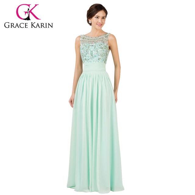 Грейс карин 2016 монетный двор элегантный длинные платья длина пола бисероплетение ...