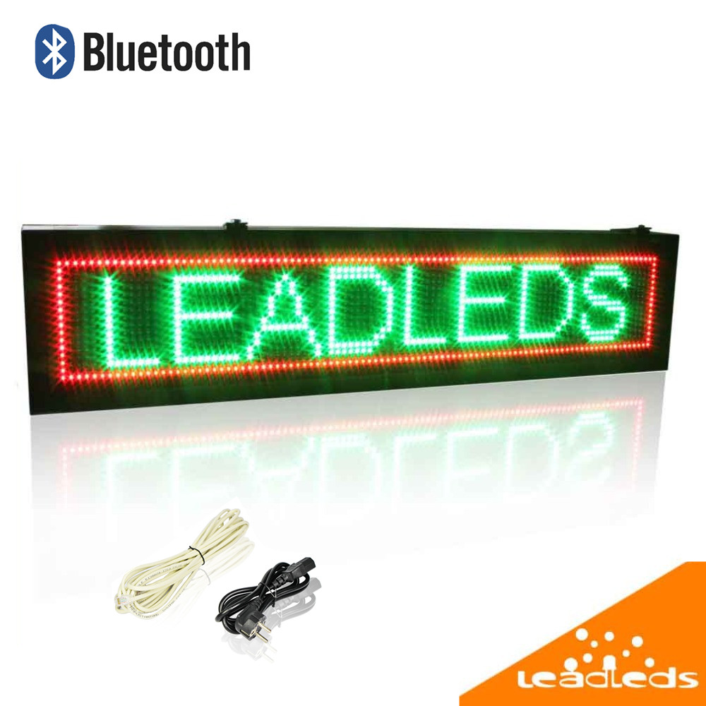 28 X 9.5 inch Outdoor Bluetooth Remote Control Led Sign Red, green, yellow Tri-color Text Signboard Moving Message Panel(China (Mainland))