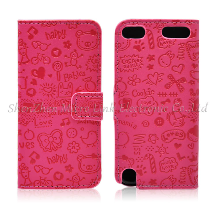 Magic Girl Flip PU Leather Case Cover For Ipod Touch 5 Phone Case