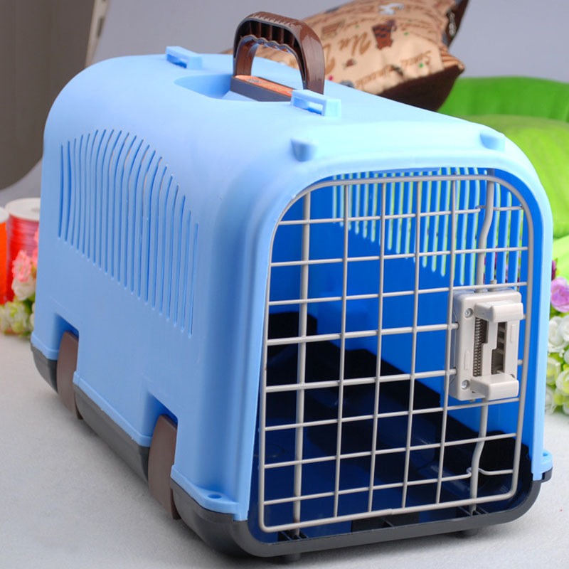 Pet Air Box Tricolor New Air Box Pet Cage Air Out Dogs And Cats Aircraft Cage(China (Mainland))
