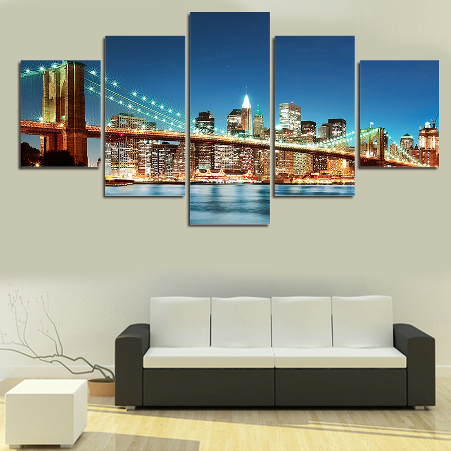 collection of home decor canvas wall 5 panels canvas print b