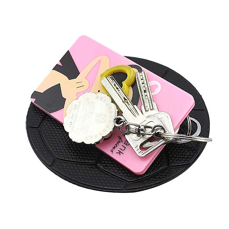 Round Car Sticky Pad Silicone Big Size Football Pattern Dashboard Anti Slip Mat for Mobile Phones(China (Mainland))