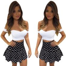 Buy Hot New Fashion Women Summer Skirt 2017 Sexy White Bandage Bodycon Tops Mini Skirt 2 Piece Sets Party Women Sets for $8.32 in AliExpress store